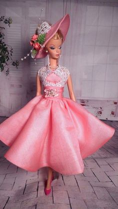 Vintage Repro Barbie Silkstone FR Poppy Parker Fashion Handmade Dress OOAK /Mary in   eBay