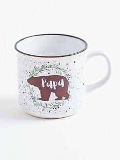 Makes a Great Gift for Dad! Papa Bear Glass Coffee Mug