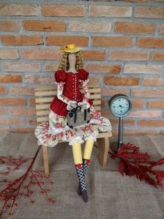 Tilda Doll fashion OOAK dolls Lady Traveler by MagicDolland