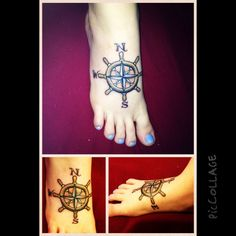 My helm compass foot tattoo!