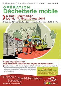 Opération déchetterie mobile. Du 16 au 19 mai 2014 à Rueil-Malmaison.