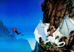 michael whelan - white dragon, dragon riders of pern, 1980