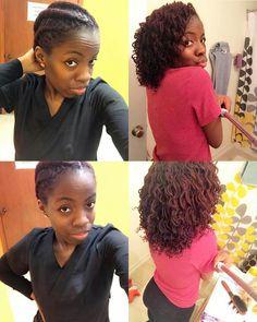 Beautiful two strand twist out on sisterlocks. Hair goals!! Love sisterlocks!! ~vnj