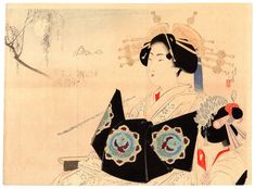 Lotto 00772 N.1 xilografia kuchi-e Mizuno Toshikata UNA VOLUTTUOSA INCANTATRICE Anno: 1897 Condizioni: buone Dimensioni: 30 x 22 cm Woodblock Print, Japanese Art, Artwork, Prints, Japan Art, Art Work, Work Of Art, Auguste Rodin Artwork