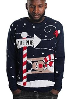 The Fashion City ® New Men Kniktted Long Sleeve Christmas Jumper Sweater X-mas Jumper