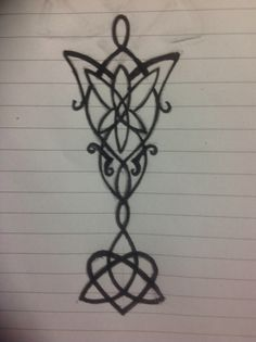 Evenstar and celtic heart TRIQUETRA