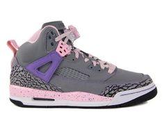 "Nike GIRLS JORDAN SPIZIKE (GS) Cool Grey/Purple Earth-Liquid Pink ""Purple Earth"" 535712-028 Nike. $94.00"