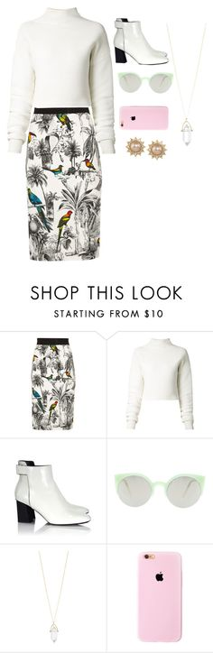 """""""Untitled #409"""" by princessophia ❤ liked on Polyvore featuring Milly, Dion Lee, Proenza Schouler, RetroSuperFuture, Accessorize and Carolee"""