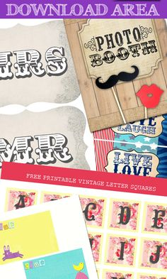 Free printable - variety of photo booth props