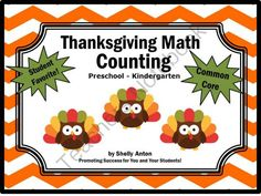 Thanksgiving Math from Promoting Success on TeachersNotebook.com (8 pages)  - Thanksgiving Math: Thanksgiving Math Counting with ADORABLE owls dressed up for Thanksgiving! Your students are going to love these Thanksgiving math task cards! Students will count (up to ten) the adorable Thanksgiving math owls. There are 10 Thanksgivin