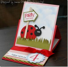 Stampin' Up!  Punch Art  Monica Gale  Ladybug. my poor child is going to hate ladybugs. hehe