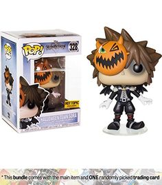 Halloween Town Sora (Hot Topic Exclusive): Funko POP! Disney x Kingdom Hearts Vinyl Figure + 1 Classic Disney Trading Card Bundle (14958)
