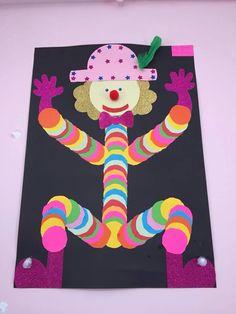 Clown avec pastille de couleur