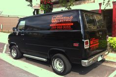 Uniqueness is powerful so in a world of white commercial vehicles, Tim Bowslaugh has tricked out his 1985 Chevy Sport Van with chrome side mufflers and Mickey Thomson tires, guaranteed to stand out on any construction site!
