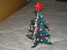 Christmas tree made of fabric by AlexCraftsStore on Etsy