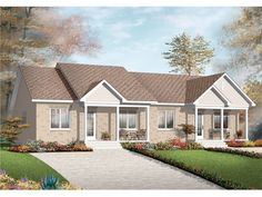 See the Lionsgate Ranch Duplex Home that has 2 bedrooms and 1 full bath from House Plans and More. See amenities for Plan Duplex House Plans, Ranch House Plans, Family House Plans, Best House Plans, Drummond House Plans, Duplex House Design, Townhouse Designs, Villa, Open Concept Floor Plans