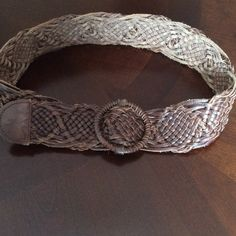 CLEARANCE  FANTASTIC BRAIDED LEATHER BELT This Belt is real leather ...it's a weave of raw edged leather. Just a Gorgeous rugged belt Hollister Accessories Belts