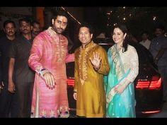 Sachin Tendulkar at Bachchan family's grand Diwali Celebration Party 2014.