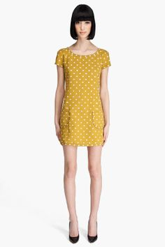 Marc Jacob Mustard Yellow Dress. $895.