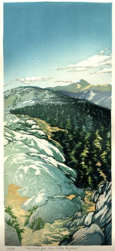 Matt Brown woodblock prints The Gallery: By the Ocean