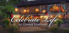 @Gervasi Vineyard is a personal favorite for me and my husband. Experience award-winning wine, fine dining, or a relaxing meal by the lake at the piazza.