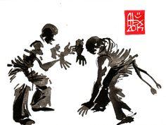 Illustration : Capoeira – 670 [ #capoeira #watercolor #illustration]/ Alexandre Guillaume