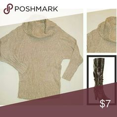 Cowl Neck Sweater Long (Over Hips) / 100% Acrylic / Made in Bangladesh Decree Sweaters Cowl & Turtlenecks