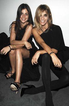 Carine Roitfeld and daughter Julia