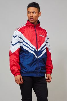 Vintage fully lined 1990's shell sports Adidas jacket