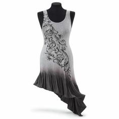 Ombre and Crystals Dress - New Age, Spiritual Gifts, Yoga, Wicca, Gothic, Reiki, Celtic, Crystal, Tarot at Pyramid Collection