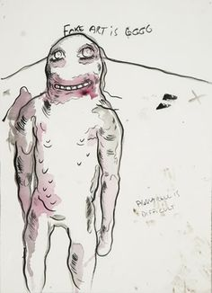 Bjarne Melgaard drawing Puerto Rico, Modern Contemporary, Envy, Creatures, Drawings, Cats, Paper, Design, Ant