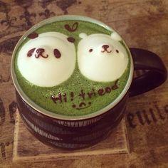 panda matcha latte♡