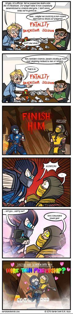 Mortal Kombat's Future Fatalities. Its so anime its making me laugh so hard