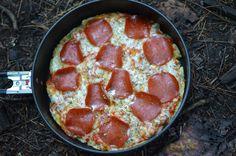 Camping pizza always tastes so good.
