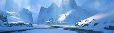 Ice Village, Richard Wright on ArtStation at https://www.artstation.com/artwork/BVJX8