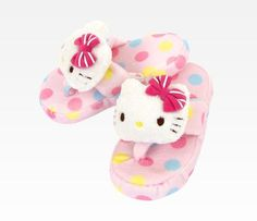 Hello Kitty Kid's Bath Slippers: Pink Fruits - M