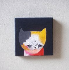 original painting, cat painting-broken cat pretty little thieves easy