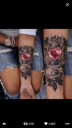 These 49 rose tattoo designs and ideas are really amazing. Find your inspiration with our gallery of rose tattoos on shoulder, sleeve, arm or hand. Paar Tattoos, Bild Tattoos, Neue Tattoos, Body Art Tattoos, Tribal Tattoos, Tatoos, Skull Tattoos, Tattoos Pics, Arrow Tattoos