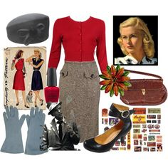 """""""1940s"""" by katherinecginnaven on Polyvore"""