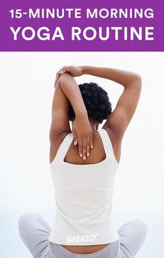 Morgen yoga rutine