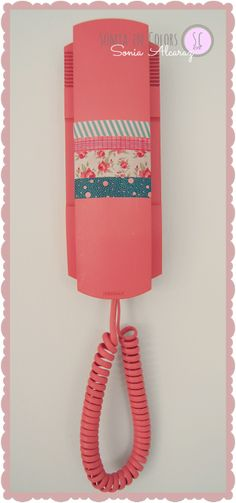 House Decorating with Washi Tape / Decora tu casa Washi taped phone