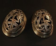 Pair of Oval Brooches, Bronze