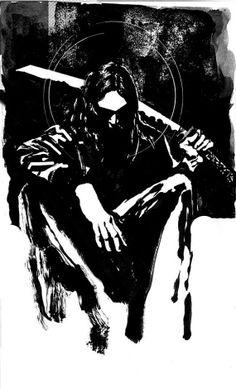 Lone Samurai art print available on etsy