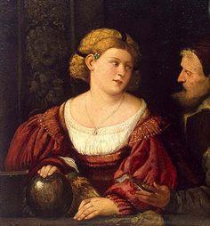 1515 Giovanni Cariani, The Seduction