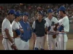 """Mound conference from the movie Bull Durham. The mound conference in TSOS wasn't a conscious homage to this, but when David tells Kane """"Don't look!"""" it definitely reminded me of this scene. (Note: the movie is rated-R, and so is the clip.)"""