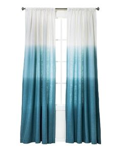 Ocean Inspired Dip Dye Curtains from Target. Featured on CC: http://www.completely-coastal.com/2014/10/blue-dip-dye-curtains.html