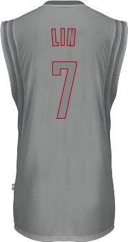 Jeremy Lin Christmas Day Silver Swingman Jersey - Official Houston Rockets NBA Licensed Merchandise