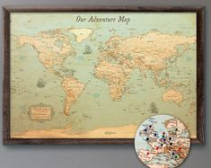 Wall Wooden Map of the World Map Travel Push Pin Map Rustic Home Wood Wall Art Anniversary Gift for Husband Boyfriend Wall Art Decor Wood World Map, World Map Wall Art, World Map Travel, Travel Maps, Anniversary Gifts For Husband, Birthday Gifts For Boyfriend, Executive Fashion, Executive Style, Countries And Flags