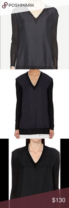 NWT Rag and Bone Caviar Mauve Long Sleep Top ⚡️LAST CHANCE ⚡️PRICE FIRM⚡️NWT Rag&Bone Caviar Mauve Ling Sleeve top in Black. Absolutely gorgeous, with a streamlined V-neck, only selling because it's too small for me. Silky body with jersey sleeves rag & bone Tops Tees - Long Sleeve