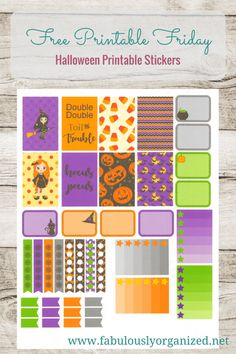 Free Printable Friday Halloween Stickers